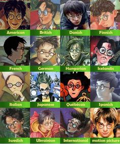 All the different Harry Potters. The Swedish one is closest to how I picture Harry. Always Harry Potter, Harry Potter Books, Harry Potter Fandom, Harry Potter World, Harry Potter Memes, Potter Facts, Yer A Wizard Harry, Mischief Managed, Fantastic Beasts