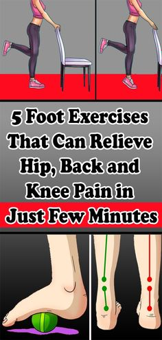 5 Foot Exercises That Can Relieve Hip, Back and Knee Pain in Just Few Minutes Fitness Workout For Women, Health And Fitness Tips, Health And Beauty, Health Tips, Wellness Tips, Health And Wellness, Foot Exercises, Hip Workout, Workouts