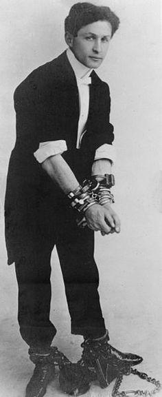 """Handcuff"" Harry Houdini, circa 1905"