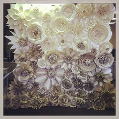 Paper Flower Backdrop 1 sq ft  Create your by PaperFlowerWedding