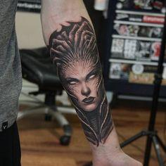 My Queen of Blades Tattoo! #games #Starcraft #Starcraft2 #SC2 #gamingnews #blizzard