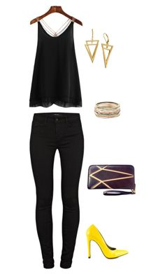 """""""Untitled #1007"""" by netteskytte on Polyvore featuring J Brand, Michael Antonio and Kendra Scott"""