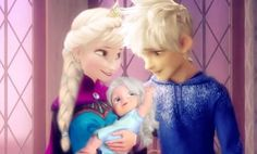 Queen Elsa, Jack Frost and their daughter Idella