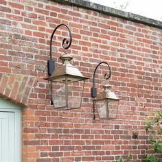 With a large or smaller option this pair of   solid brass #carriage #lights are a great choice for adding plenty of period impact to any home. Canterbury Lantern   Exterior Light   Outdoor Lighting   Jim Lawrence