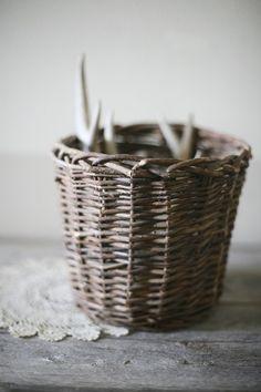 woven twig basket