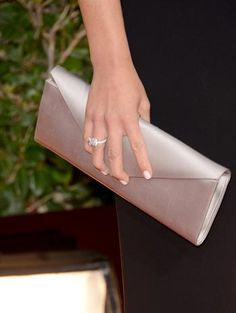 Olivia Munn Satin Clutch - Olivia Munn carried a cream satin clutch on the red carpet. Celebrity Nails, Celebrity Beauty, Golden Globes 2013, Nice Toes, White Manicure, Olivia Munn, Girls Best Friend, Hair And Nails, Hair Beauty