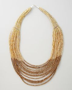 14-Strand Necklace by Panacea at Neiman Marcus.