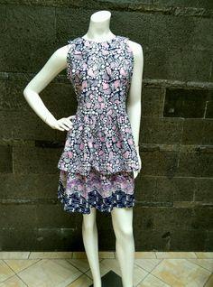 """Women's Dress """"Batik Cap Cirebon"""". Size: M fit to L Price: IDR 250.000  WA 0812 924 1516"""