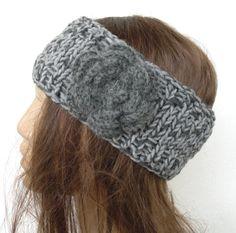 Hand Knit   HeadbandHeadband with Flower boho headband  by Ebruk, $20.00