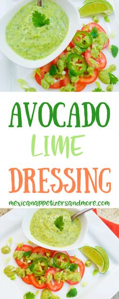 5 Minute Avocado Lime Dressing-This Avocado Lime Dressing just takes 5 minutes to make. Super simple and easy to make. A delicious and refreshing salad dressing. Source by mexicanappetizersandmore Ankara Nakliyat Salad Dressing Recipes, Salad Recipes, Detox Recipes, Avocado Recipes, Healthy Recipes, Avocado Ideas, Avocado Lime Dressing, Avocado Salad Dressings, Avocado Salads