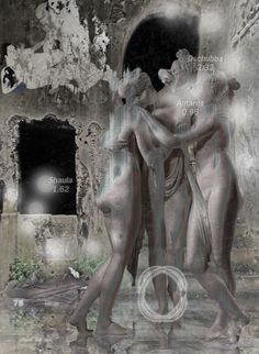 """Astra Instantes | Pinacotheca picta"" [Genius Loci - slab5/5] 2016 © [Mazareno] ominimedial-digitalfrottage-photomanipulation [proportions 1,37:1] #mixmedia #photomanipulation #glitch #photography #drawing #graphic #painting #digitalart #omnimedia #inkjet #fresco #esotericism #mythology #symbolism #abandoned #geniusloci #Lascaux #Canova #Dionysus #initiation #ritual #epos #noumenon #phenomenon #alchemy #science #astrology #Mediterranean #labyrinth #cave #arcane #beast #man #god #soul #love…"