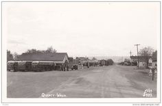 RP: Main Street , Bus Stop & Gas Station , QUINCY , Washington ,30-40s Ellis #4933 - Delcampe.com