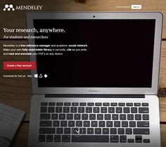 Mendeley is a free reference manager and academic social network