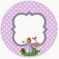 Princess Sofia Party, Disney Princess, Minnie Mouse Background, Baby Stickers, Sofia The First, Cake Toppers, Decoupage, Diy And Crafts, Decorative Plates