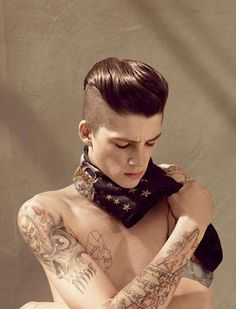 Half-Shaved Pompadours  Ash Stymest Blends 80s Punk & 50s Greaser