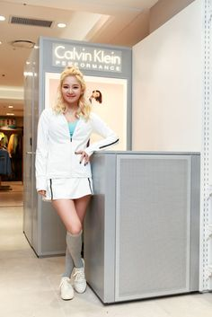 SNSD HyoYeon at Calvin Klein Performance's Store