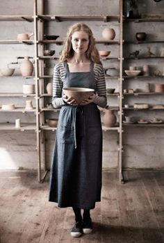 Gorgeous chambray pinafore dress, from lovely Seasalt.