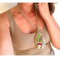 #multicolor #soutache #necklace in my @etsy shop http://ift.tt/2iU61PV #beaded #colorfulwisdom  #pendant #handmade #oversized #bold #huge  #earthtones #fashion #designer #designerjewelry #jewellery #Handcraftedjewelry #crafts #forsale #onsale #unique #unusual #different #boho #hippie #bohemian #gypsy
