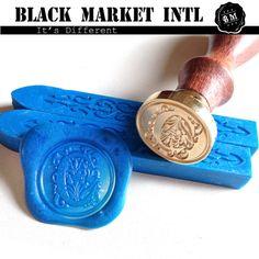 Wax Seal Stamp alphabet letter font set STPEUR by blackmarketintl, $11.99
