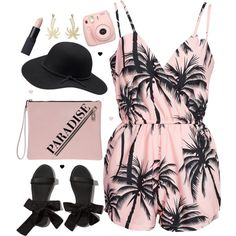 This romper is so cute. I don't know if I'd wear it to school, but this would be great to wear this summer