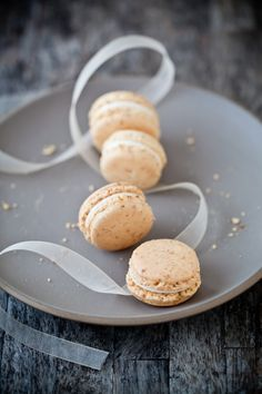 Carrot Cake Macarons with Cream Cheese Frosting Filling from Tartelette