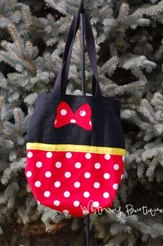 Minnie Mouse Tote Bag. $16.95, via Etsy.