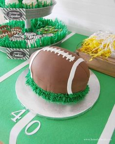 Football birthday party! See more party planning ideas at CatchMyParty.com!