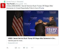 Trump campaign isn't apologizing for suggesting Reno scene was assassination attempt Vote 2016, Donald Trump Jr, Trump Pence, Secret Service, Assassin, Weapon, Campaign, Scene, Weapons