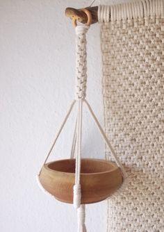 Cotton Macrame plant hanger-indoor plant holder-Hanging