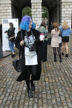 This girl added a pop of colour with her impressive blue hair