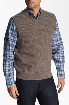 Nordstrom Cable Knit Merino Wool Sweater Vest | $65 | gifts for guys | mens sweater vest | mens fashion | mens style | menswear | wantering http://www.wantering.com/mens-clothing-item/nordstrom-cable-knit-merino-wool-sweater-vest/aaZW2/
