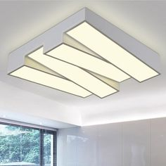 现代简约时尚大气长方形正方形客厅灯吸顶灯卧室灯具书房客房灯饰