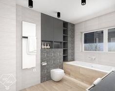 Aranżacje wnętrz - Łazienka: Dwie łazienki w jednym stylu - Średnia łazienka z oknem, styl minimalistyczny - PRACOWNIA PROJEKTOWA KRYSKA Ewa Łuźniak. Przeglądaj, dodawaj i zapisuj najlepsze zdjęcia, pomysły i inspiracje designerskie. W bazie mamy już prawie milion fotografii!