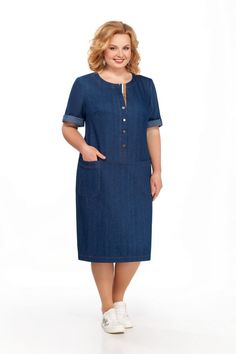 Jean Dress Outfits, Denim Maxi Dress, Plus Size Cocktail Dresses, Plus Size Dresses, Plus Size Outfits, Stylish Dresses, Simple Dresses, Casual Dresses, Casual Outfits