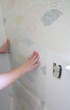 Removable wallpaper - an easy and fast way to add tons of character with no commitment! Perfect renters decoration too.
