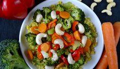 Komosa ryżowa z warzywami i nerkowcami