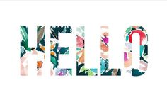 Eloïse, our Nicole's Classes Photoshop 101 student, created this cheerful HELLO!