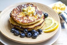 Irena Macri from eat drink paleo shares her coconut pancakes recipe. All kinds of yum! Coconut Pancakes, Banana Pancakes, Pancakes And Waffles, Lemon Pancakes, Making Pancakes, Coconut Recipes, Paleo Recipes, Real Food Recipes, Paleo Ideas