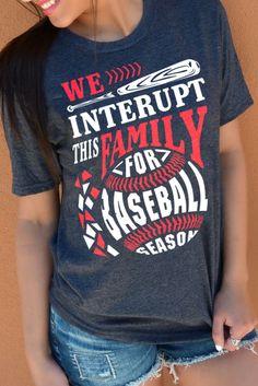family baseball tshirts. We are baseball family