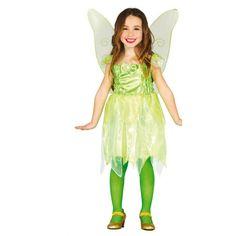 Comprar Disfraz de Campanilla Hada del Bosque. Para niñas de 4 a 12 años.
