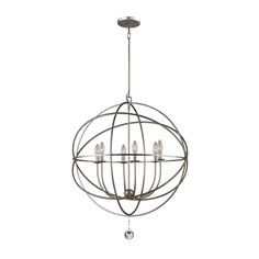 Hunter. INDUSTRIAL LIGHT Chandelier Vintage Upcycle Repurpose Cage ...