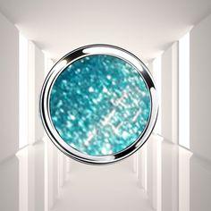 gel uv couleur bleu mirage paillete argent