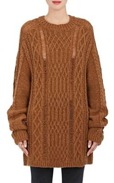 MAISON MARTIN MARGIELA Loose Cable-Knit Oversized Sweater. #maisonmartinmargiela #cloth #sweater