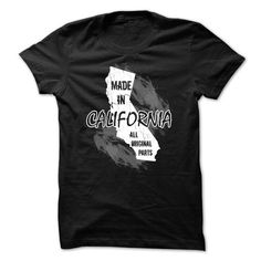 California t-shirt - Made in California - #tshirt #cute hoodie. CHEAP PRICE => https://www.sunfrog.com/Political/Made-in-California.html?68278