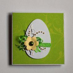 Easter card in green I Card, Easter Card, Green, Art, Cards, Art Background, Kunst, Performing Arts, Art Education Resources