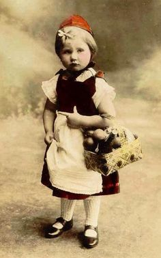 vintage photograph Little Red Riding Hood My Little Baby, Little Pigs, Little Red, Vintage Photographs, Vintage Photos, Childhood Images, Vintage Children Photos, Guys And Dolls, Big Bad Wolf