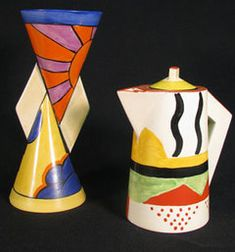 More Clarice Cliff pottery - I love this stuff