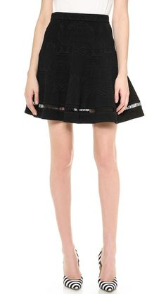 Basics - Skirt with see-through, fun details.    Rebecca Taylor Jacquard Flip Skirt
