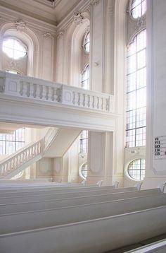 .inner white of a church