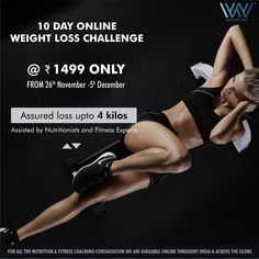 Online Nutrition and Fitness Consultation in India and abroad Worlds Of Wow, Weight Loss Challenge, Fitness Nutrition, 10 Days, Get In Shape, November, Challenges, Diet, How To Plan